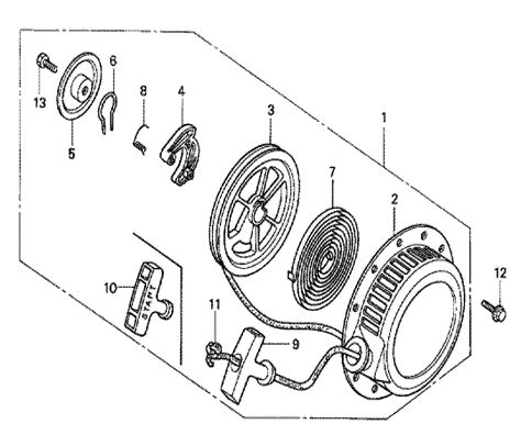 Honda G150 Engine Parts Diagram Honda Gx240 Engine Parts