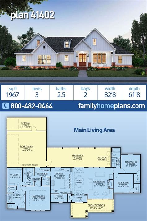 traditional style house plan    bed  bath  car garage   family house plans