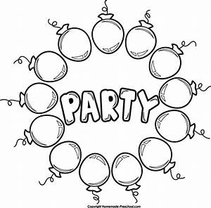 Black And White Party Balloons Clipart - Clipart Suggest