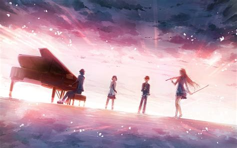 shigatsu wa kimi  uso  piano violin wallpapers