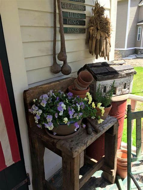 Best Images About Primitive Front Porches Pinterest