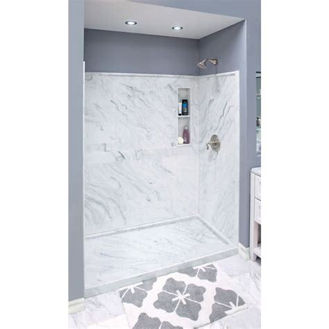 shop style selections white carrara solid surface wall