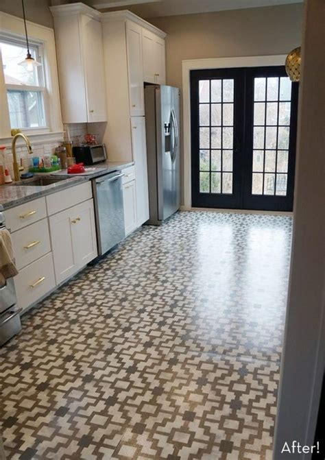 painted kitchen floor how to make cement floors more appealing diy projects 1383
