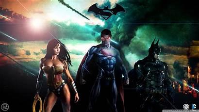 Wonder Superman Woman Wallpapers Batman Desktop Dc