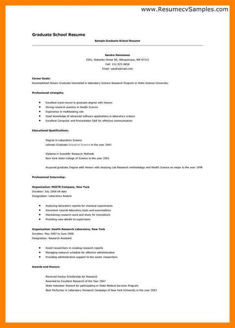 Resume School Template by Professional Resume For Graduate School Best Resume