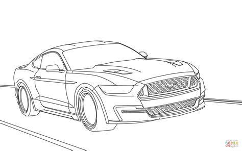 Ford Mustang 2019 Coloring Page Free Printable Coloring