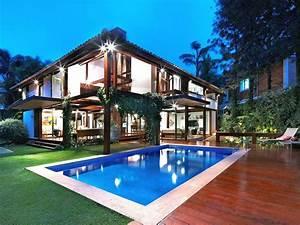 Minimalist, 2, Floor, Tropical, Home, Design, Ideas