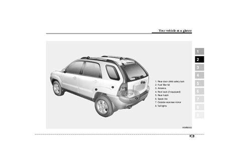 car service manuals pdf 1998 kia sportage regenerative braking 2005 kia sportage owners manual