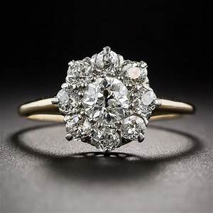 victorian diamond cluster engagement ring With diamond cluster wedding rings