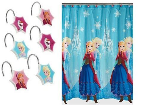 frozen shower curtain disney frozen fabric shower curtain and hooks nip ebay