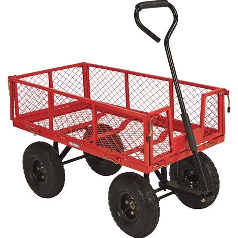 Ironton Steel Garden Wagon — 400lb Capacity, 34inl X
