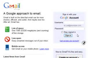 Google Email Inbox Gmail Account Sign In