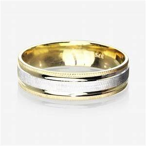 9ct gold 2 colour luxury weight men39s wedding ring 55mm With wedding rings