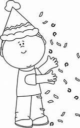 Birthday Confetti Clip Clipart Party Coloring Kid Nursery Boy Children Penny Stamp Rubber Teacher Dellosa Carson Cake Printable Template Classroom sketch template
