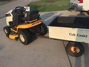 Cub Cadet Ltx 1040 42 In  Riding Mower With Cart