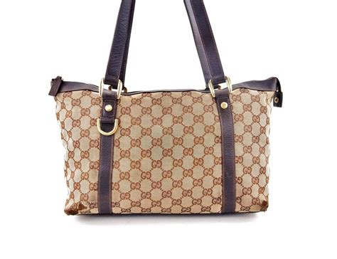 gucci vintage brown gg monogram canvas leather shoulder bag tradesy