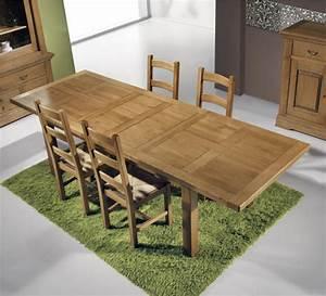 Table En Chene Massif Avec Rallonges : table repas rectangulaire 3122 ~ Teatrodelosmanantiales.com Idées de Décoration