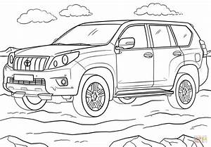 toyota land cruiser prado coloring page free printable With toyota fj cruiser