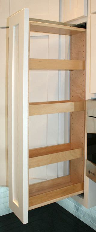 Slide Out Spice Racks For Kitchen Cabinets by Best 25 Pull Out Pantry Ideas On Kitchen