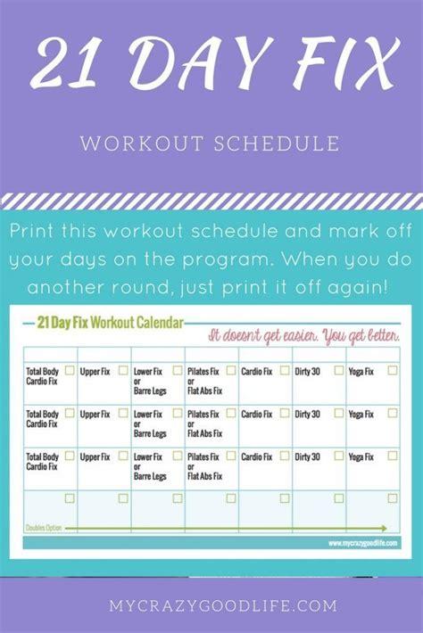 printable  day fix workout calendar  day fix