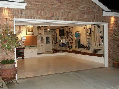 Garage Designs : Garage Design Ideas With Cabinet And Hanger Compartment