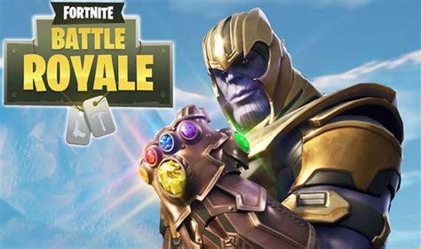 fortnite gameplay  thanos em evento infinity war