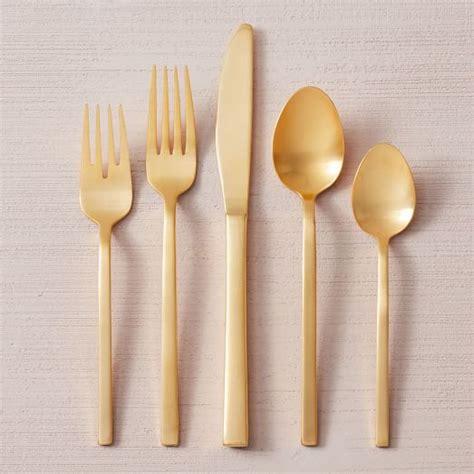 gold flatware sets