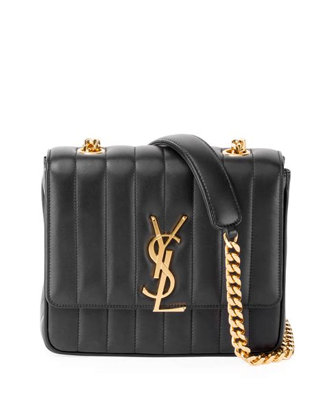 saint laurent vicky medium ysl monogram chain crossbody