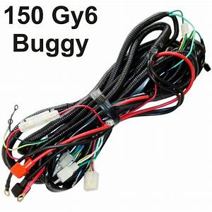 Buggy Wiring Harness Gy6 150cc Chinese Electric Start Kandi Go Kart Dazon