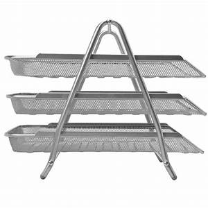 silver mesh letter tray 3 tier With 3 tier letter tray
