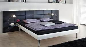 Bett 100 X 180 : bett 180 x 200 cm wei kunstleder schwarz kaufen bei lifestyle4living m belvertrieb gmbh ~ Bigdaddyawards.com Haus und Dekorationen