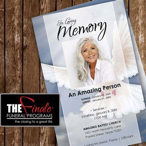 heavenly dove printable funeral program template