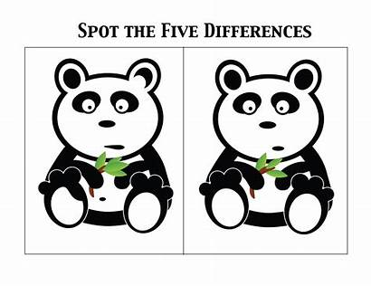 Difference Spot Worksheets Differences Between Panda Challenge