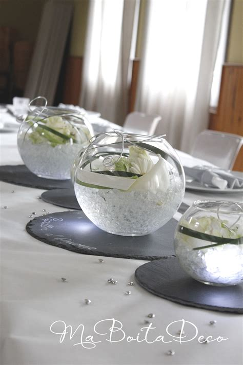 Table Vase by Centre De Table Vase Boule Led Arum Ardoise