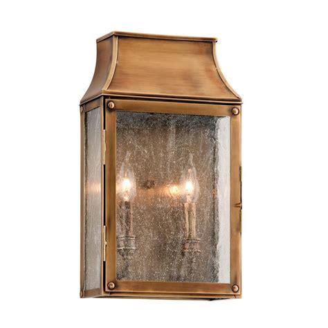 troy lighting beacon hill 2 light heirloom brass outdoor