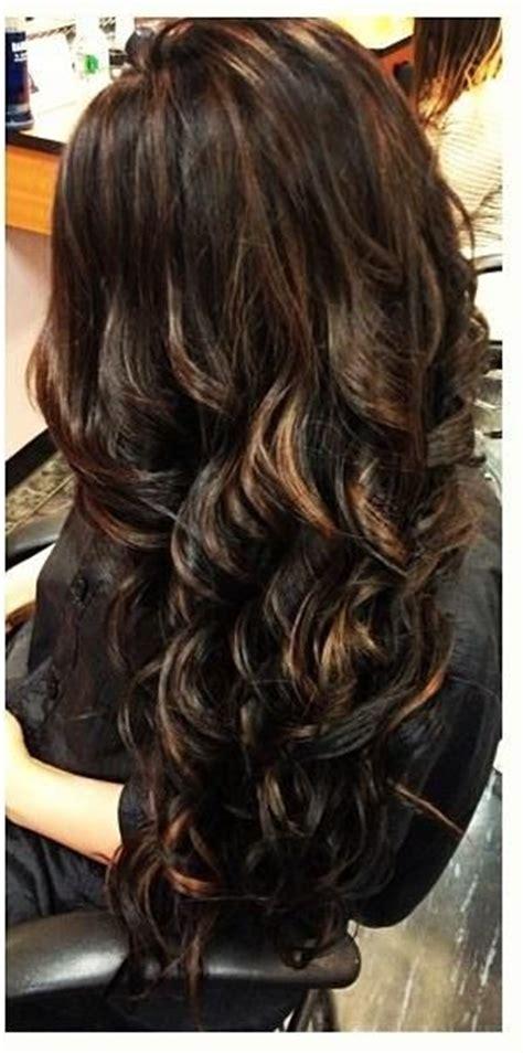 dark brown hair with light brown tips dark brunette layered hair with light brown highlights