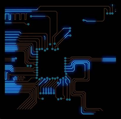 Tech Circuit Hud Cool Animation Cpu Graphics