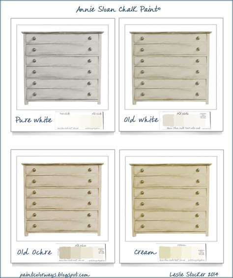 colorways sloan chalk paint color options for chest