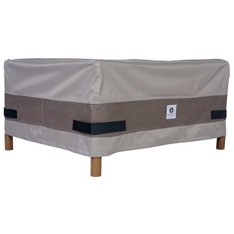 duck covers 40 in patio ottoman or side table