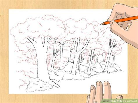 ways  draw  forest wikihow
