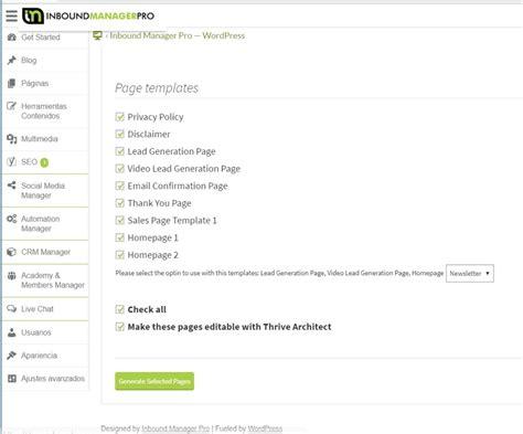 Crear Template De Pagina En by C 243 Mo Crear Una P 225 Gina De Tu Web Inbound Manager Pro