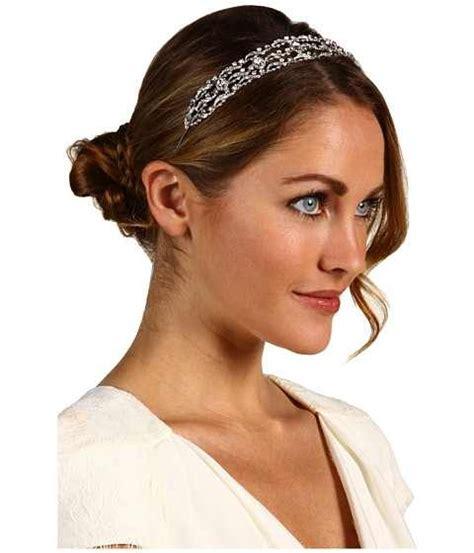 bridal hairstyle updo  headband hair pinterest