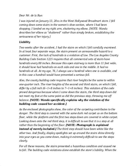 Demand Letter Template For Personal Injury by Demand Letter Sle 14 Pdf Word Documents