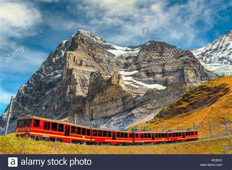 Jungfrau Climbing Mountain Train Stock Photos And Jungfrau