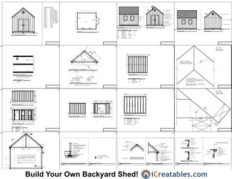 cape  style shed plans icreatables