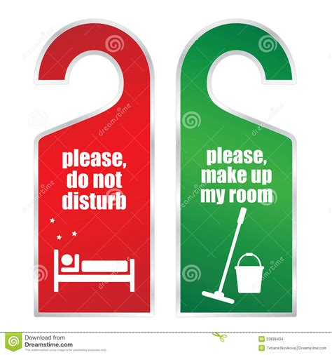 disturb     room cards stock images