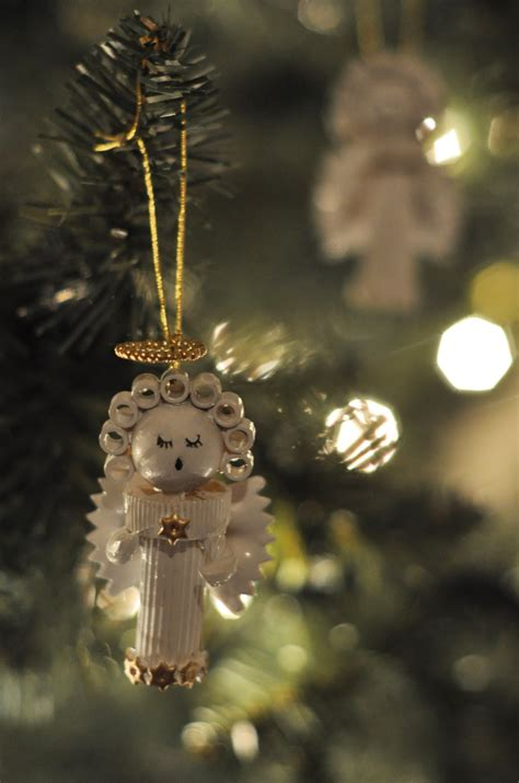 dried pasta angel ornament by jessica at craftily ever