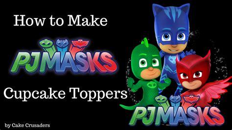 pj mask cupcake toppers  printables