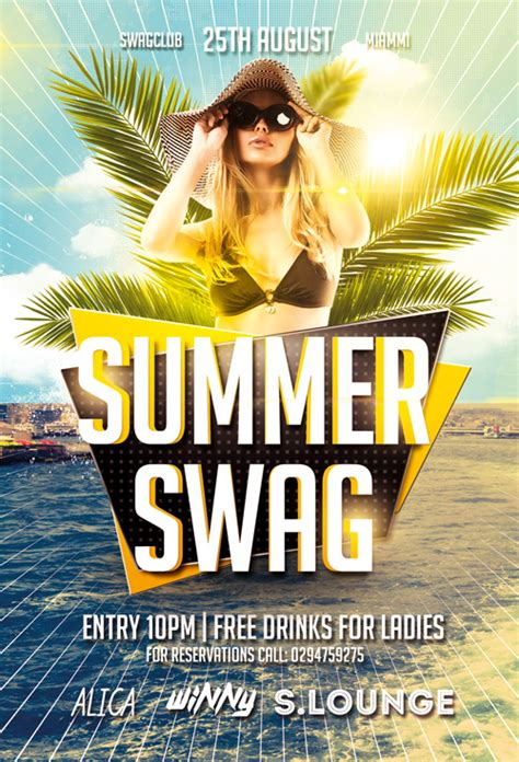 summer flyer templates free summer swag party free flyer template http