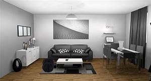 Peinture Moderne Salon : peinture salon gris perle de la fen tre qui est marron deco peinture salon gris et blanc ~ Teatrodelosmanantiales.com Idées de Décoration